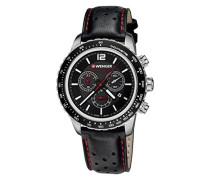 Unisex-Armbanduhr 01.0853.105 ROADSTER BLACK NIGHT CHRONO Analog Quarz Leder 01.0853.105 ROADSTER BLACK NIGHT CHRONO