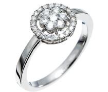 Damen-Ring 750 Gold 27 Diamanten