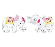 Kinder-Ohrstecker Elefant 925 Silber rhodiniert