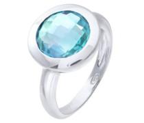Damen-Ring Versilbert Blau - Größe 57 (18.1)