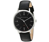 French Connection Herren-Quarzuhr mit schwarzem Zifferblatt Analog-Anzeige und schwarz Lederband fc1258b