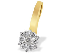 Damen-Anhänger Bicolor Glamour 585 Gold 7 Diamanten 0,33 ct. Pa A5238BI Brillanten Schmuck