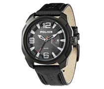 Police Alcron Herren-Armbanduhr Analog Quarz Leder - PL.93831AEU/61A
