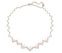 Damen-Collier Edify All-Around Halskette Kristall weiß Perle 40 cm - 5196684
