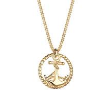 Damen-Halskette Silber vergoldet 0112651412_45