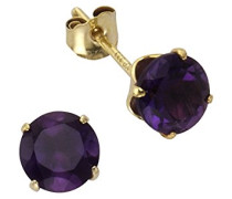 Fascination by Ellen K. Damen-Ohrstecker 8 Karat (333) Gelbgold Amethyst violett 216320041-91