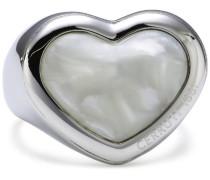 Cerruti 1881 Damen-Ring 1881 Edelstahl Acetat weiß Gr 56 R2119056