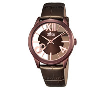 Damen-Armbanduhr Analog Quarz Leder 18309/1