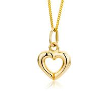 Kinder-Halskette Herzanhänger 585 Gelbgold 40cm MK047P