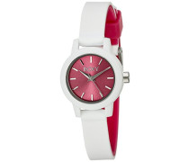 Roxy Damen-Armbanduhr The Monica Analog Silikon Weiß RX/1016PKWT