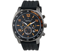Caravelle New York Herren-Armbanduhr Chronograph Quarz Silikon 45B141
