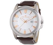 TOM TAILOR Herren-Armbanduhr XL Analog Quarz Leder 5413402
