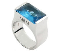 Damen-Ring 925 Sterling Silber Zirkonia blau
