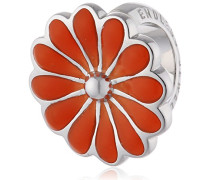 Damen-Bead Coral Daisy 925 Silber Emaille - 41255-4