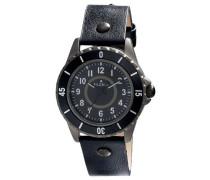 Herren-Armbanduhr XL Analog Quarz Leder 701343101
