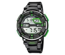 Calypso Herren Digitale Armbanduhr mit LCD Dial Digital Display und schwarz Kunststoff Gurt k5672/3