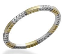 Damen-Ring Memoire 9 Karat (375) Weiß-/Gelbgold mit 0.09ct Brillanten