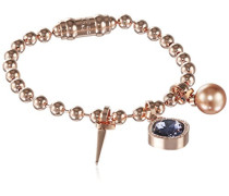 Damen-Armband My World Vergoldet teilvergoldet Kristall lila 19.0 cm - BWWBBR22