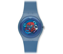 Swatch Unisex-Armbanduhr Analog Plastik SUON102