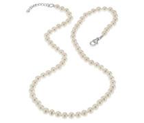 Pearls Collier 42+3cm länge aus weissen Swasserzuchtperlen 380250013