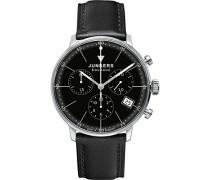 Damen-Armbanduhr Chronograph Quarz Leder 60892