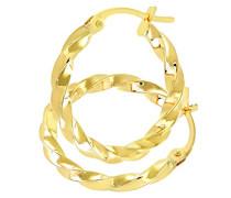 9 Karat (375) Gelbgold Gedreht gemeißeltes Ohrringe