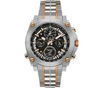 Precisionist 98G256 - Herren Designer-Armbanduhr - Chronograph mit Armband aus Edelstahl - Zweifarbig mit Roségold