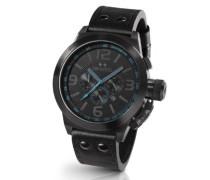 Herren-Armbanduhr XL Canteen Style Chronograph Leder TW-904