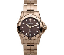 Newport Trophy Women'Grand Sport-Armbanduhr Analog Quarz Edelstahl Rose Gold/Rotgold Armband 12591 PR48B