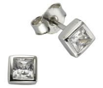 Damen-Ohrstecker 925 Sterling Silber Zirkonia weiß 358220291