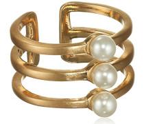Damen-Summer Ring Vergoldet teilvergoldet Perle Rundschliff Gr. 53 (16.9) - 271522034