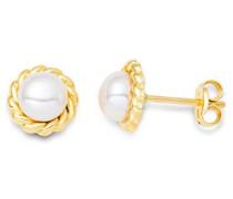 Damen-Ohrstecker 9 Karat (375) Gelbgold Perlen