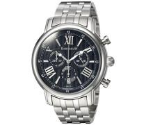 -Armbanduhr  Chronograph  Quarz Edelstahl ES-0016-11_Metallic
