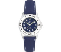 Unisex-Armbanduhr Analog Kunststoff blau 647400