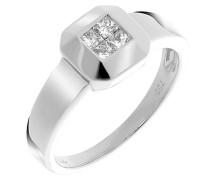 Damen-Ring 750 Gold 4 Diamanten 0.26 Carat