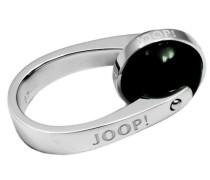 Damen-Ring 925 Silber Zirkonia Rundschliff grün