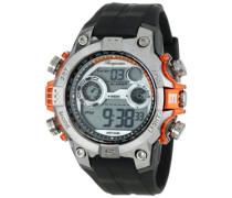 Armbanduhr für Herren mit Digital Anzeige, Quarz-Uhr und Silikonarmband, Wasserdichte mit zeitlosem, schickem Design - klassische, elegante Uhr für Männer - BM800-112B Digital Power