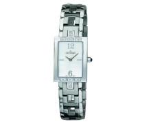 4560.7132 Women'Schweizer Quarz-Armbanduhr mit silberfarbenem Zifferblatt Analog-Anzeige und Silber-Edelstahl-Armband