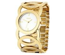 M&M Damen-Armbanduhr Analog Quarz Edelstahl M11411-232