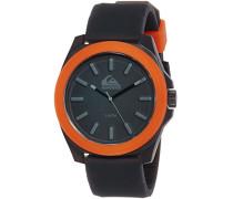 Quiksilver Herren-Armbanduhr The Fader Analog Silikon Schwarz QS/1015BKOR