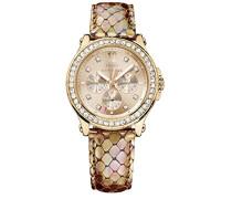 Juicy Couture Damen-Armbanduhr Analog Quarz Gold 1901065