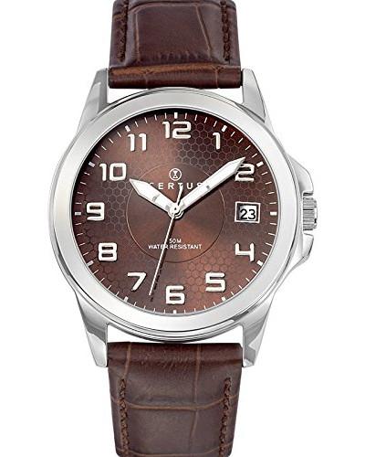 Herren-Armbanduhr Analog Quarz Schokolade 610729