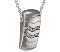 Pierre Cardin Damen Halskette 925 Sterling Silber rhodiniert Glas Zirkonia Réalisme 42 cm weiß S.PCNL90452A420