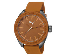 U-Turn Puma Unisex Quarzuhr mit Zifferblatt Orange PU Strap Analog PU103731002 Orange