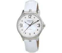 Certina Damen-Armbanduhr XS Analog Quarz Leder C021.210.16.116.00
