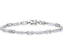Damen-Armband Weißgold 9 Karat Pave Diamant 0,20 ct