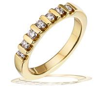 Damen-Ring Gelb Gold 585 Damen-Ring 7 Diamanten 0,40 ct. Brillanten  Diamantring Verlobung