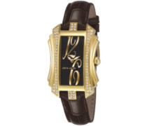Pierre Cardin Damen-Armbanduhr Trésor Analog Quarz Leder