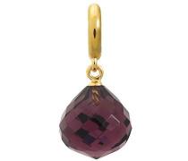 Damen-Charm JLo Amethyst Love Drop 925 Silber teilvergoldet Kristall lila - 1850-1