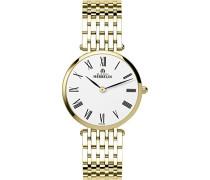 Michel Herbelin Damen-BP01 17345/Damen-Armbanduhr Alyce Quarz analog Armband Edelstahl vergoldet